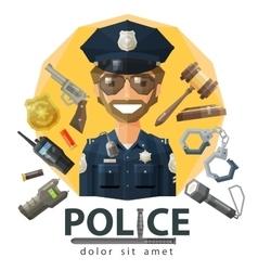 police law constabulary logo design vector image vector image
