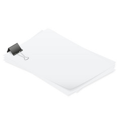 Stack of papers held together smoothly isometric vector image