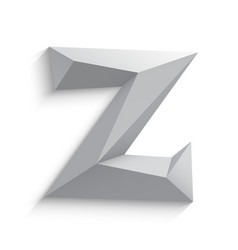 3d letter Z on white vector image