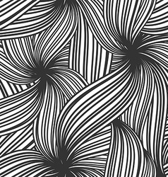Abstract seamless background of striped leaves vector image