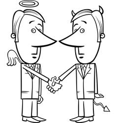 angel and devil businessmen cartoon vector image