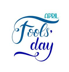 april fools day text vector image