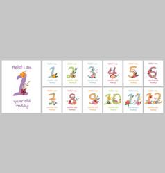 Baby milestone cards vector
