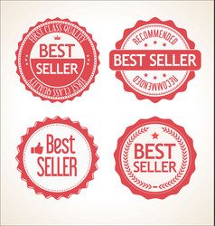 best seller retro vintage badge and labels vector image