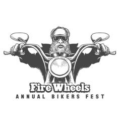 Bikers Festival Emblem vector