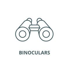 binoculars line icon binoculars outline vector image