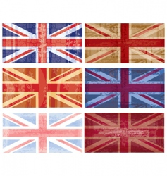 British flag grunge vector vector
