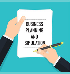 business planning and simulation vector image