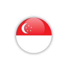 Button singapore flag template design vector