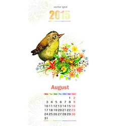 calendar for 2015 august vector image