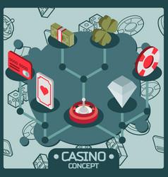 casino isometric concept vector image