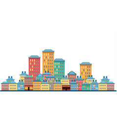 city on a white background vector image