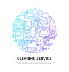 Cleaning service circle concept vector