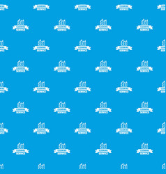 cleaning service pattern seamless blue vector image