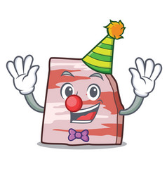 Clown pork lard mascot cartoon vector