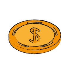 coin money symbol vector image