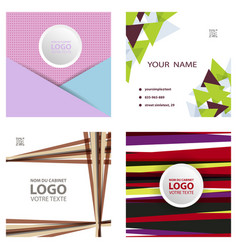 colorful geometric background simple shapes vector image