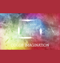 Colorful watercolor hand drawn paper texture torn vector