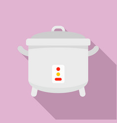 Cooker icon flat style vector