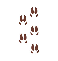 deer footprints animal paw silhouette flat vector image