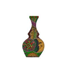 Doodle vase vector