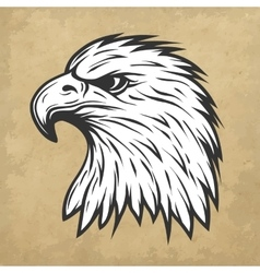 Eagle head in profile Line art style vector image