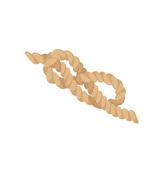 Eight knot jute string rope vector