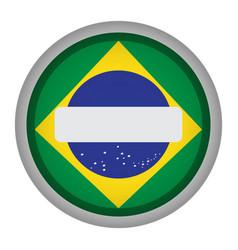 empty brazilian campaign button vector image
