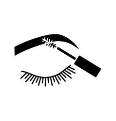Eyebrows mascara glyph icon vector