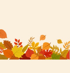 fallen gold and red autumn leaves october nature vector image