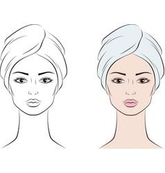 Female face vector