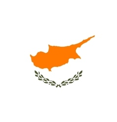 Flag of Cyprus in correct proportions and colors vector