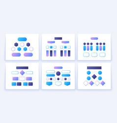 flow chart schemes hierarchy block elements vector image