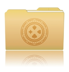 Folder with Casino Chip vector image
