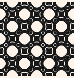 funky geometric seamless pattern with circles vector image