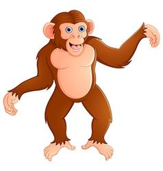 Funny monkey cartoon vector
