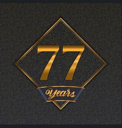 Golden number 77 templates vector
