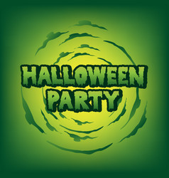Halloween party blood text vector