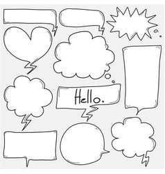 hand drawn bubbles set vector image