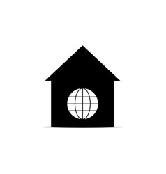 home world icon on white background can be used vector image