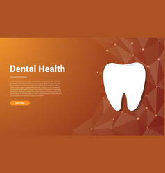 human dental tooth template banner design with vector image