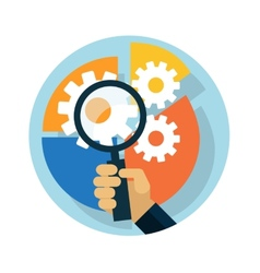 Idea concept with magnifying glass vector