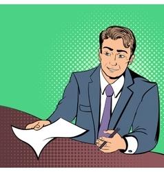 Lawyer comics concept vector image