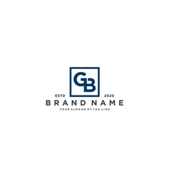 Letter bg logo design vector