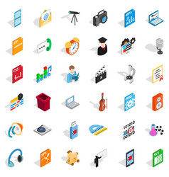 modern mail icons set isometric style vector image