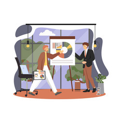 office people lifestyle business man giving vector image