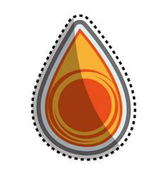 Oil drop isolated icon vector