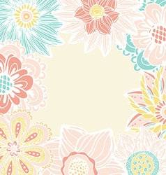 perfect pastel flower card with a lot place for vector image