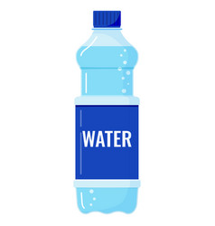 plastic bottle fresh water with bubbles icon vector image