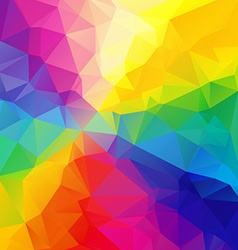 Polygonal colorful mosaic background vector